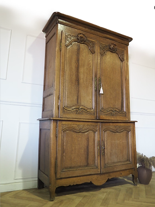 Large French Antique Kitchen larder Cupboard Linen Press