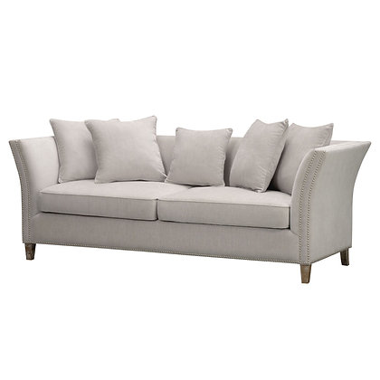 Vesper three seater sofa in cream