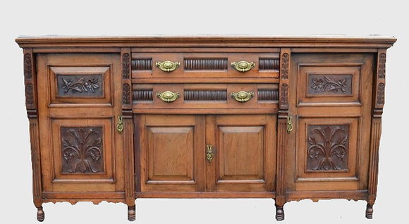 Large antique walnut sideboard available to paint