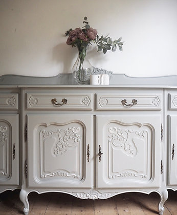 Large French Louis XV Sideboard in grey