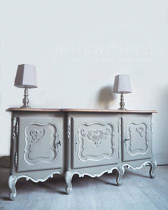 French oak Louis XV tv unit - low sideboard