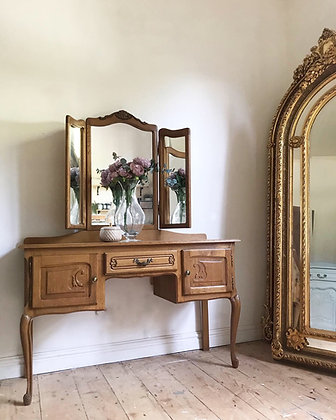 French Louis XV Oak Dressing Table