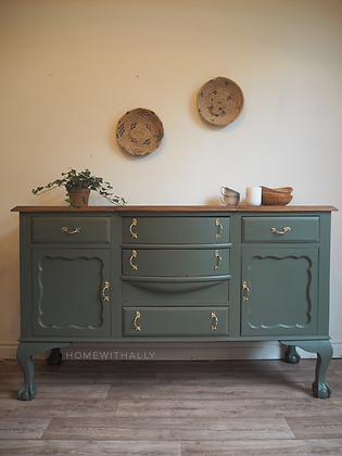 Large ball and claw feet olive sideboard