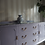 Thumbnail: French walnut inlaid sideboard with glass top in purple Lilac gloss