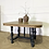 Thumbnail: French antique oak dining table entry table in black wooden top