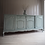 Thumbnail: Reproduction French Louis style large sideboard in duck egg blue with glass top