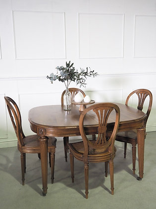 French Vintage Louis XVI Style Four seater Dining Table and Chairs