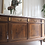 Thumbnail: Very Large Mahogany French Louis XVI Style Vintage Sideboard with Marble Top