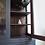 Thumbnail: Large bookcase cabinet painted ash black grey