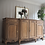 Thumbnail: Large french Louis antique sideboard in limed oak