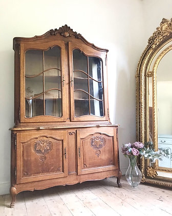 Large French Louis XV Oak display Cabinet