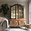 Thumbnail: French Louis XV Display Cabinet Glass Doors Wooden Shelves