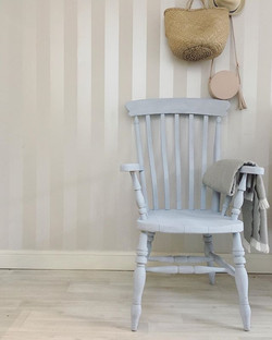 Painting this beautiful wooden chair for my client has really made me want one in my home somewhere!
