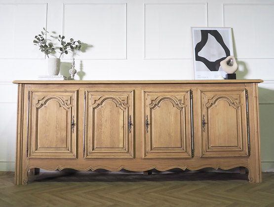 Large French rustic farmhouse style Sideboard in Raw Wood
