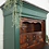 Thumbnail: Large antique Louie Philippe Style Secretaire Cabinet in dark Green