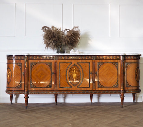 Large French JP Ehalt Sideboard with Marble top
