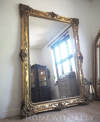 Very large Gold Standing Mirror 7ft x 5ft