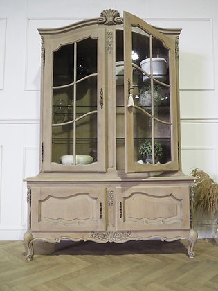 French vintage Louis XV Style Glass Cabinet