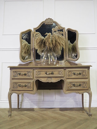 Louis XV French Dressing Table in Raw Wood