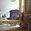 Thumbnail: Large vintage ornate arched freestanding floor mirror in gold