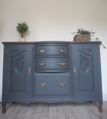 Bow fronted Victorian sideboard
