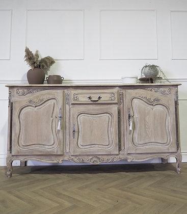 French Louis XV Style sideboard in limed Oak