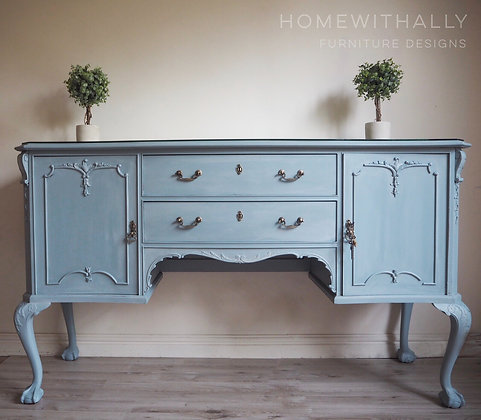 Large French blue sideboard