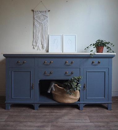 Wooden top grey sideboard
