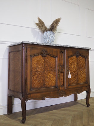 Beautiful french Walnut Cabinet sideboard with marble top