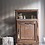 Thumbnail: Rustic french cabinet cupboard mini armoire in limed oak raw wood