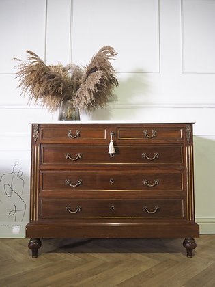Antique French Chest of Drawers with marble top