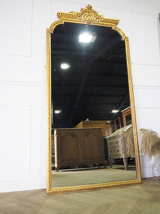 Large freestanding 19th century floor antique mirror