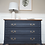 Thumbnail: Small french Louis XV Style Chest of Drawers in navy blue