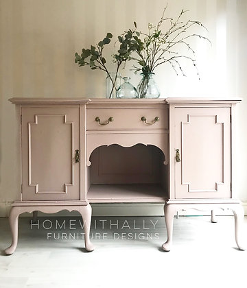 French style sideboard painted dusky pink