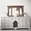 Thumbnail: Solid pine sideboard dresser drawers in light grey