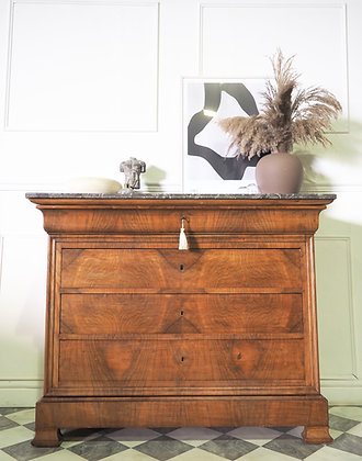 Large French Louis Philippe Antique Commode