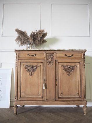 French antique Marble top washstand Cabinet Cupboard Sideboard