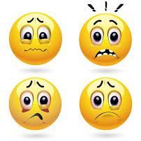 worry emojis