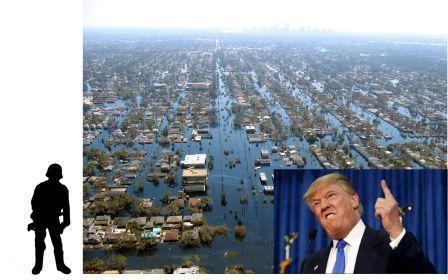 US 2017 flooding and Donald Trump