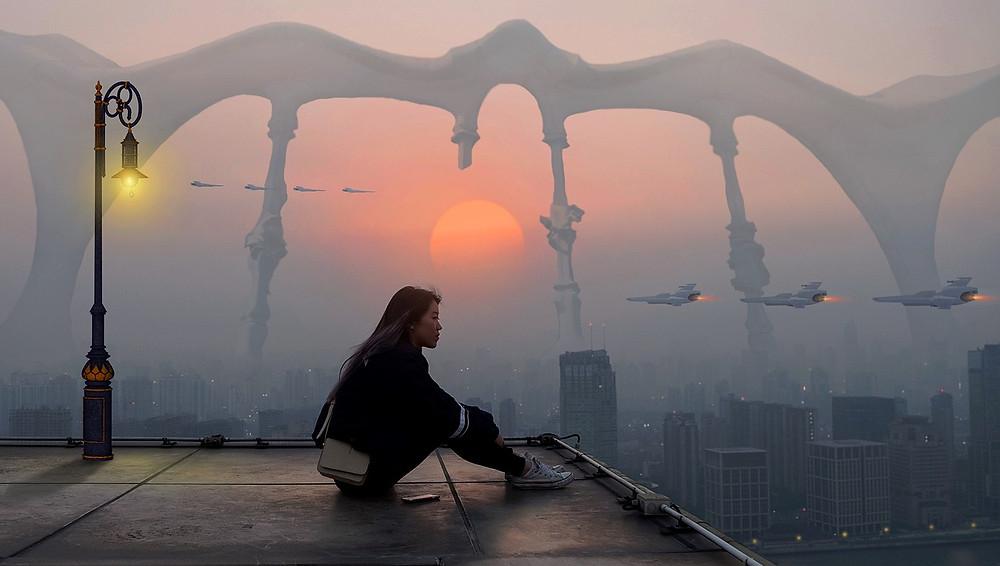 fantasy future city