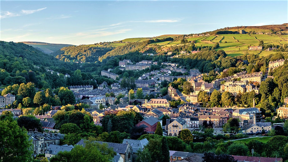 Hebden Bridge, between Manchester and Leeds, a beautiful former mill town in West Yorkshire, UK