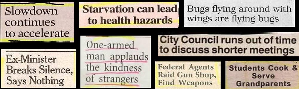 bad headline complilation