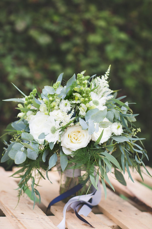 Sage & Co floral design green and white bridal bouquet