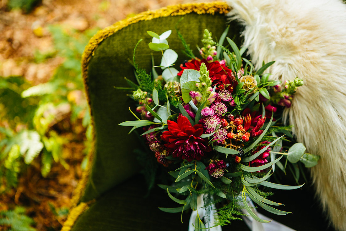 Sage & Co floral design autumnal woodland bouque