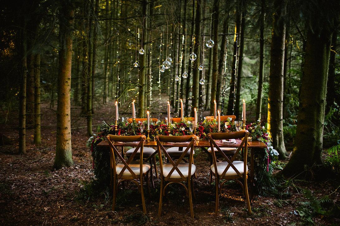Sage & Co floral design woodland wedding shoot