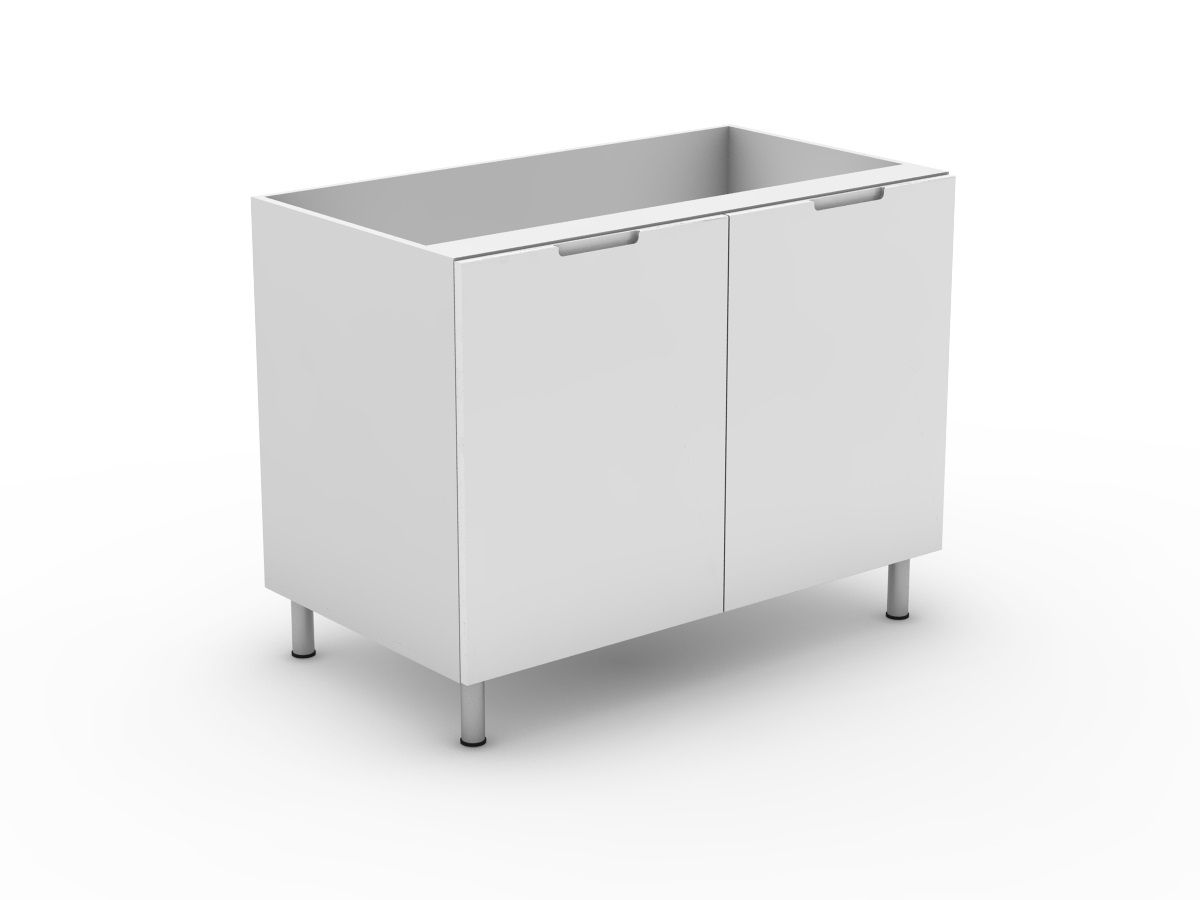 INTEGRATED HANDLE - 2 DOOR BASE CABINET (B2)