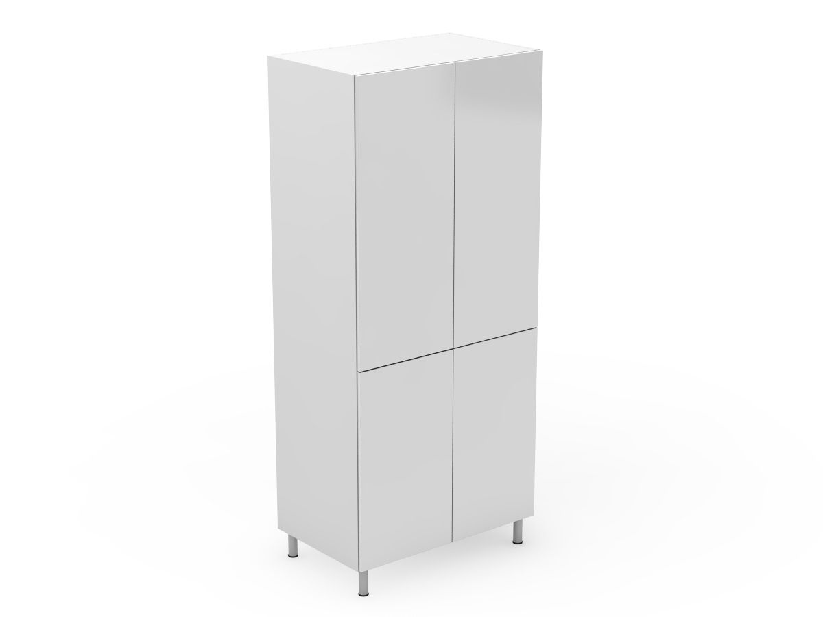 POLY DOORS - 4 DOOR PANTRY - SPLIT AT BENCHTOP HEIGHT (P400-4SDB)