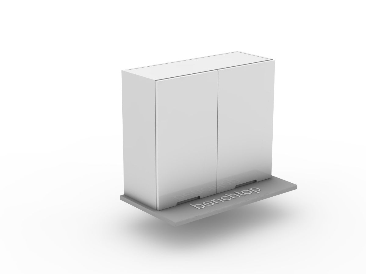 INTEGRATED HANDLE - 1 SET BI FOLD - BENCHTOP APPLIANCE CABINET (OB600BF-1)