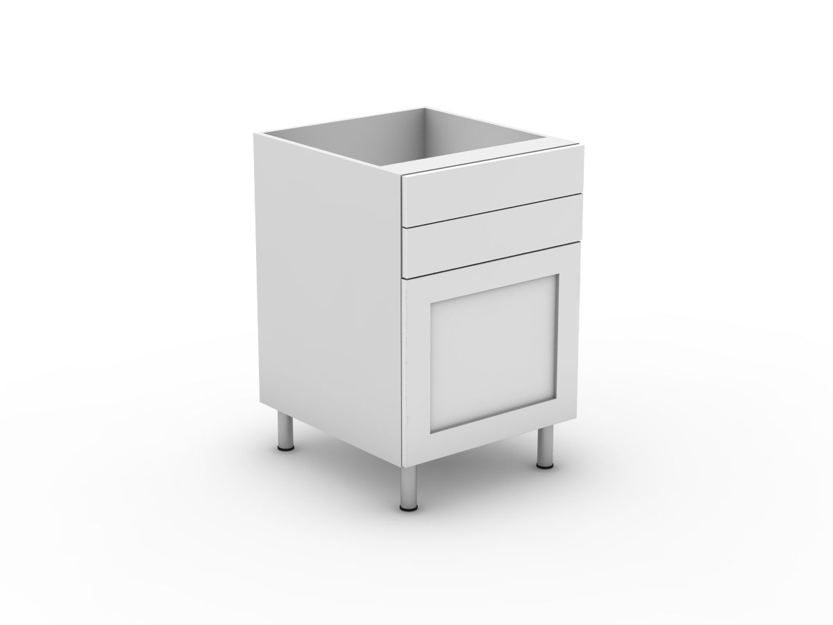 SHAKER - 2 DRAWERS + 1 DOOR (B300-12MB)
