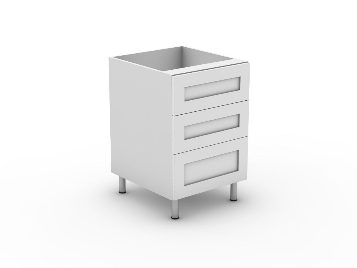 SHAKER - 3 DRAWERS - 2 MEDIUM + 1 POT (B3002M1PMB)